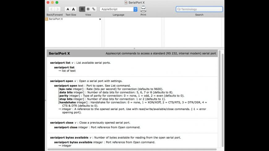 SerialPort X for Mac - review, screenshots