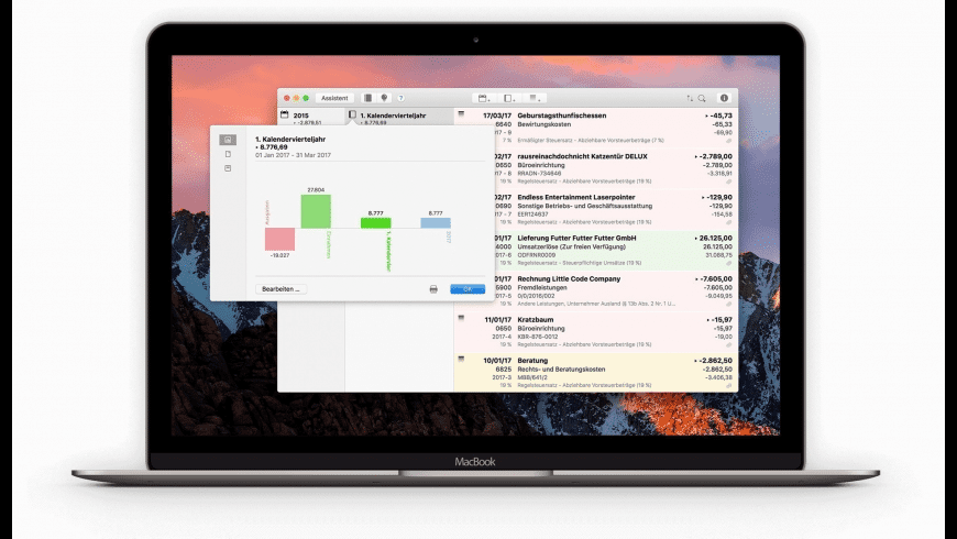 Umsatz for Mac - review, screenshots