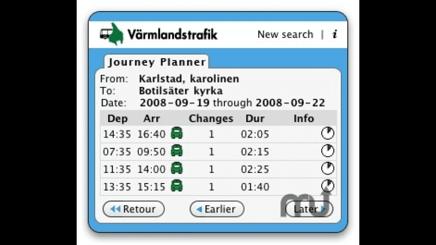Värmlandstrafik for Mac - review, screenshots