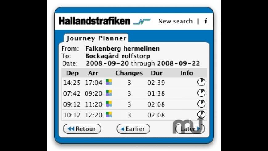 Hallandstrafiken for Mac - review, screenshots
