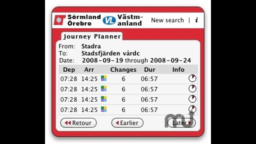 Länstrafiken Sörmland/Örebro/Västmanland for Mac - review, screenshots
