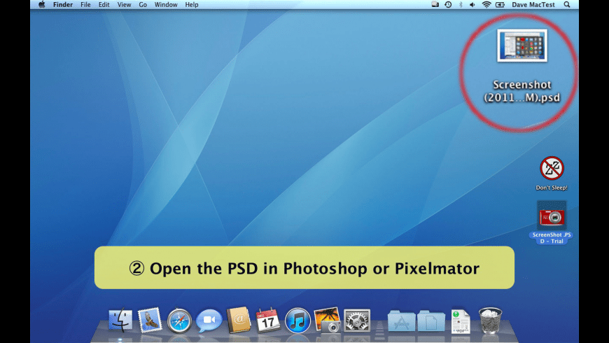 ScreenShot PSD for Mac - review, screenshots