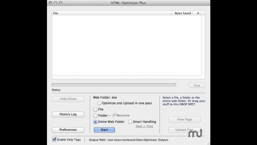 HTML-Optimizer Plus for Mac - review, screenshots