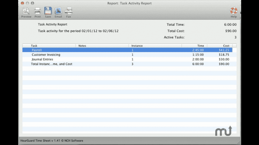 Hourguard for Mac - review, screenshots