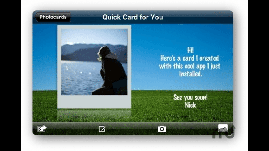 Photocards for Mac - review, screenshots