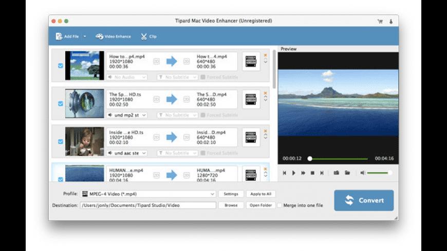 Tipard Mac Video Enhancer for Mac - review, screenshots