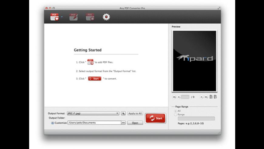 Tipard PDF Converter for Mac - review, screenshots