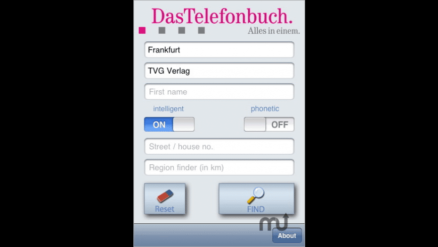DasTelefonbuch Deutschland for Mac - review, screenshots