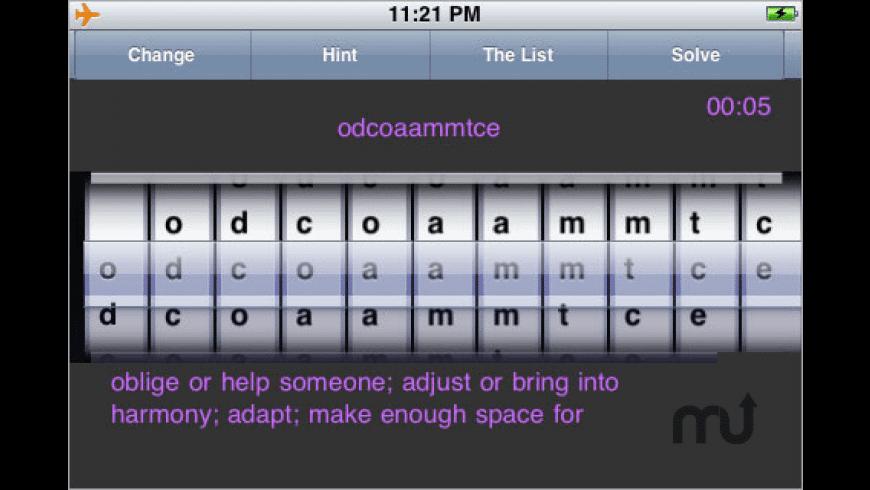 GRE Vocabulary Scramble for Mac - review, screenshots