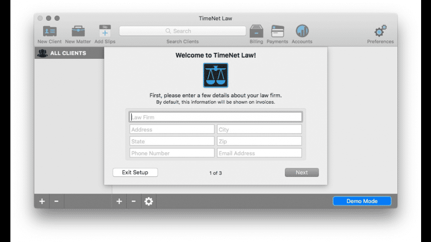 TimeNet Law for Mac - review, screenshots
