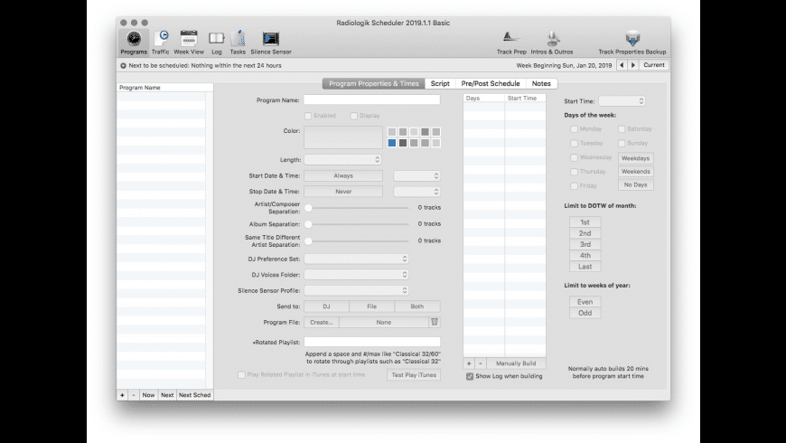 Radiologik Scheduler for Mac - review, screenshots