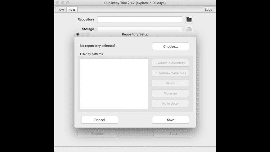 Duplicacy for Mac - review, screenshots