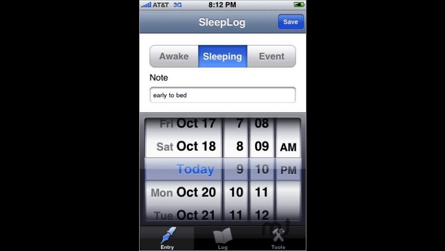 SleepLOG for Mac - review, screenshots