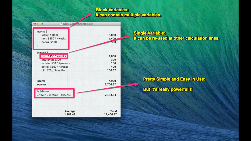 CalcNote for Mac - review, screenshots