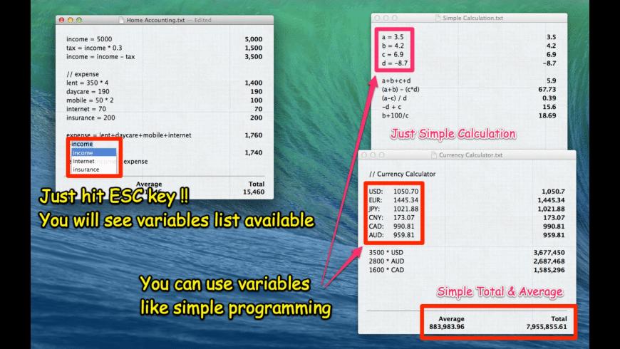 CalcNote for Mac - review, screenshots