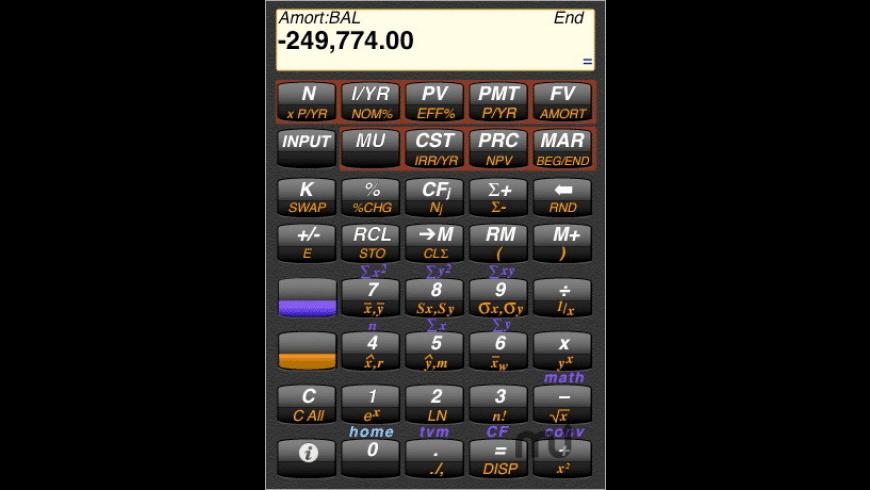 Calc10BII Financial Calculator for Mac - review, screenshots