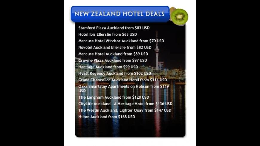 New Zealand Hotel Deals for Mac - review, screenshots