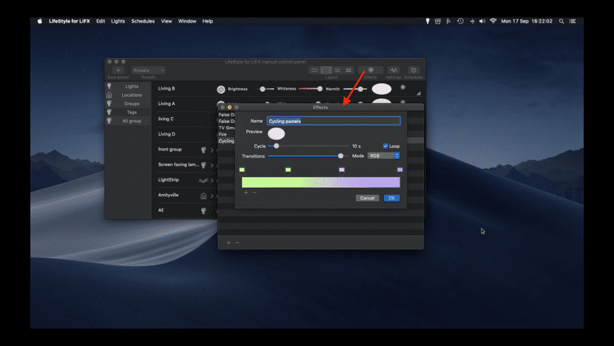 LIFXstyle for Mac - review, screenshots