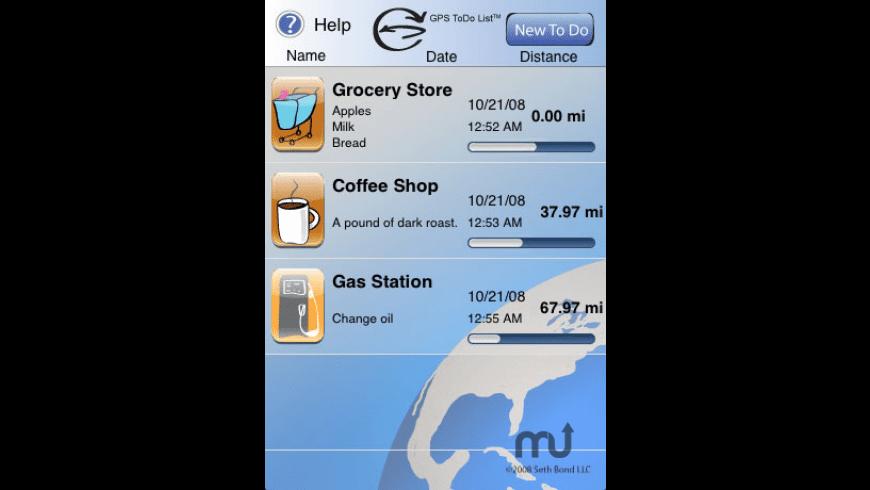GPS ToDo List for Mac - review, screenshots