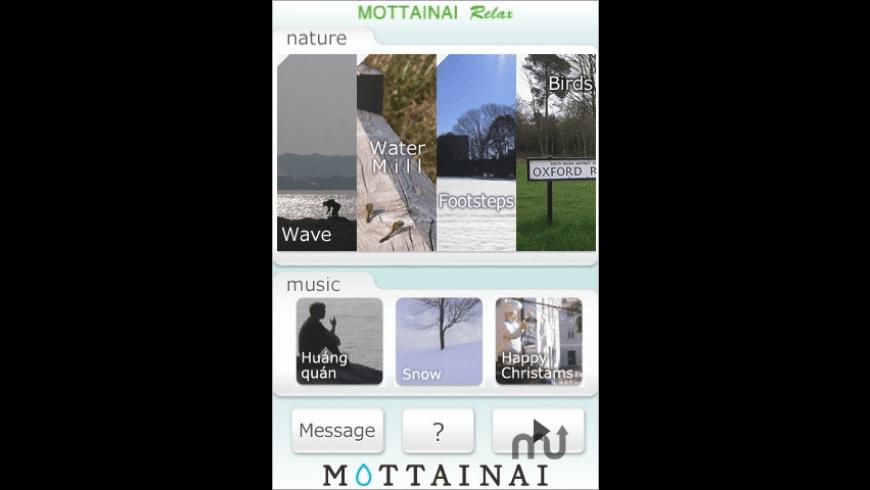 MOTTAINAI Relax for Mac - review, screenshots