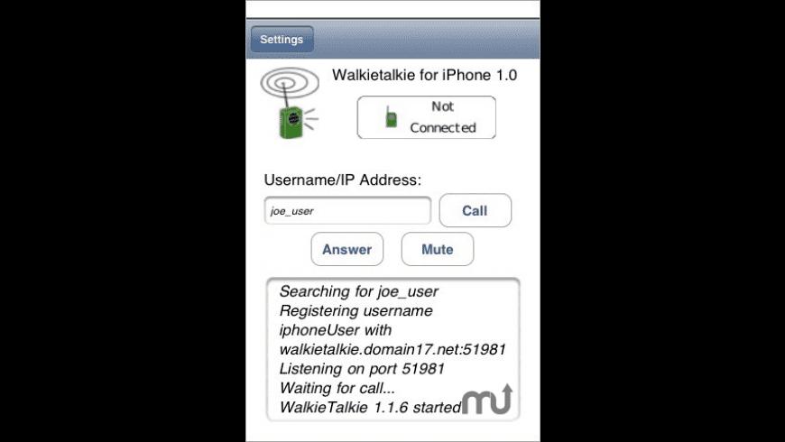 WalkieTalkie VOIP for Mac - review, screenshots