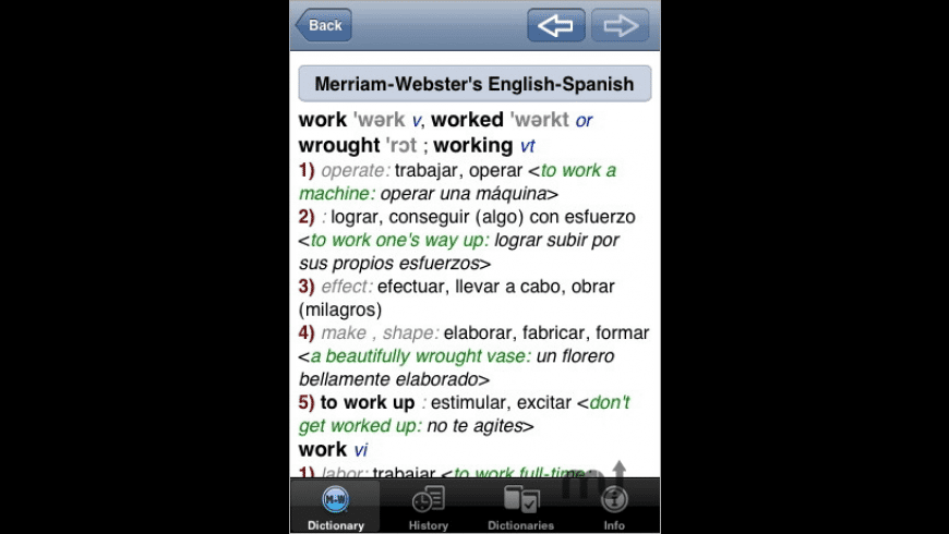 Merriam-Webster's Spanish-English Dictionary for Mac - review, screenshots
