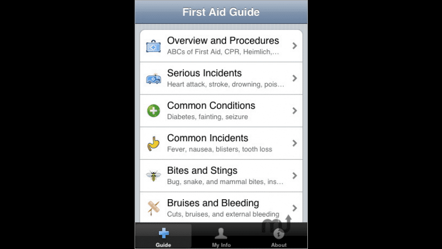 Pocket First Aid & CPR Guide for Mac - review, screenshots