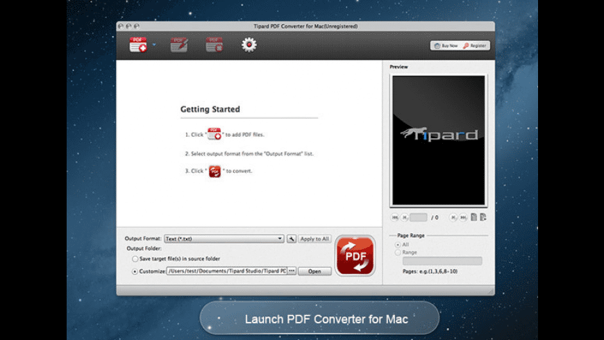 Tipard PDF Converter Platinum for Mac - review, screenshots