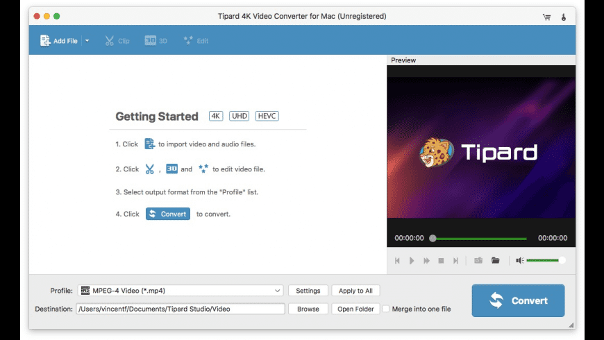 Tipard 4K Video Converter for Mac - review, screenshots