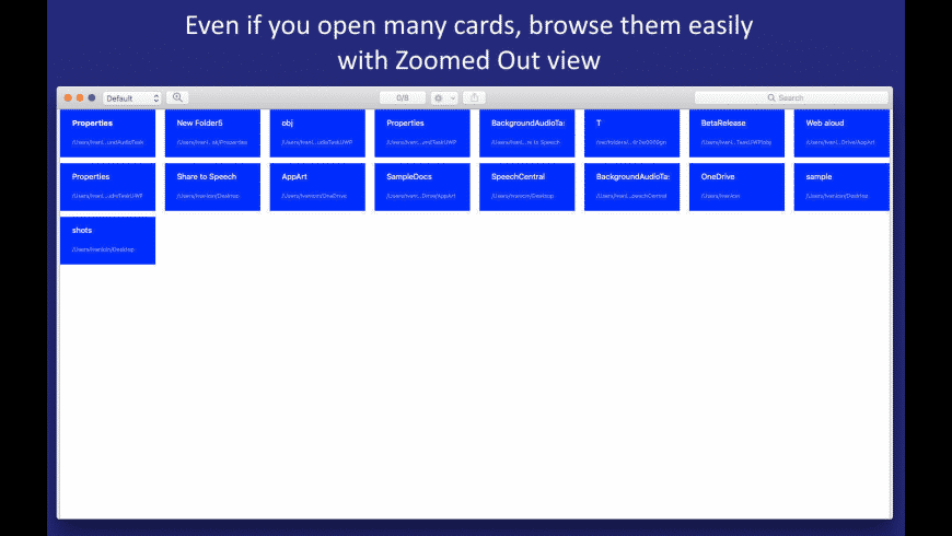 File Cards for Mac - review, screenshots