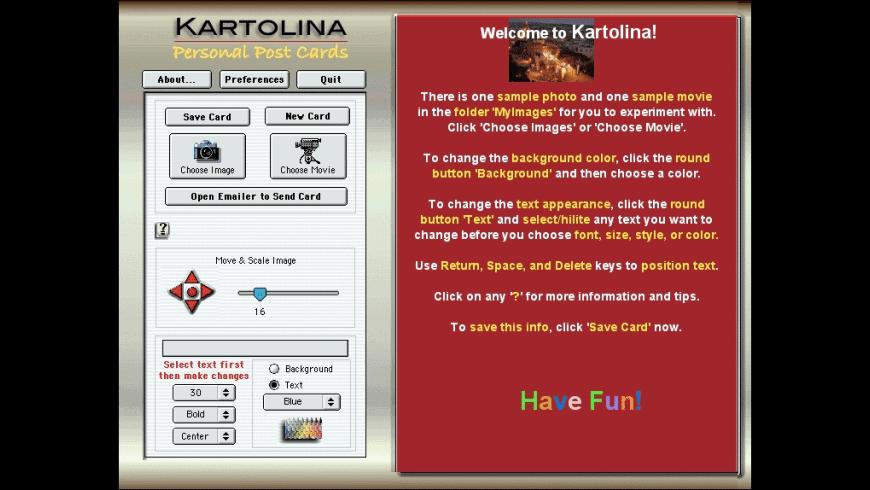 Kartolina Movie for Mac - review, screenshots