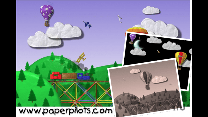 Paper Pilots Screensaver for Mac - review, screenshots