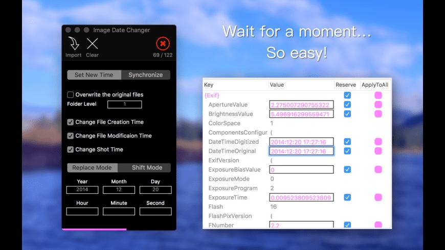 Image Date Changer for Mac - review, screenshots