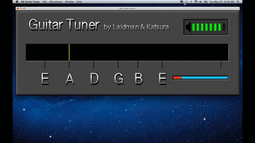 RK Guitar Tuner for Mac - review, screenshots