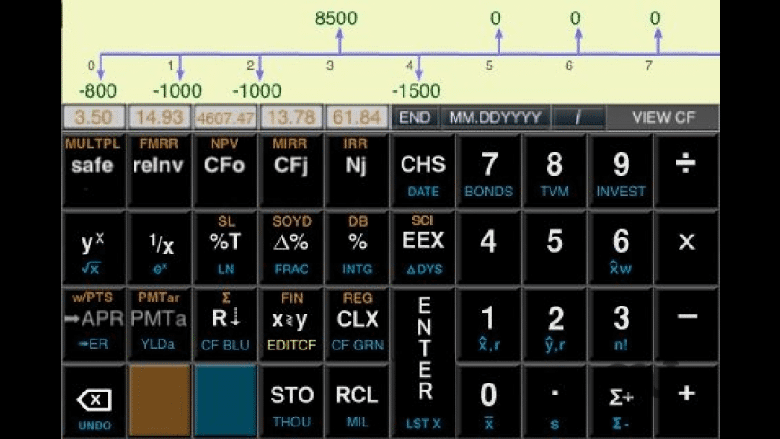 Calc-12E for Mac - review, screenshots
