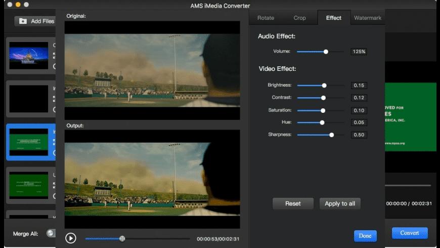 AMS iMedia Converter for Mac - review, screenshots