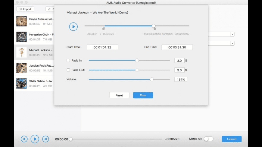 AMS Audio Converter for Mac - review, screenshots