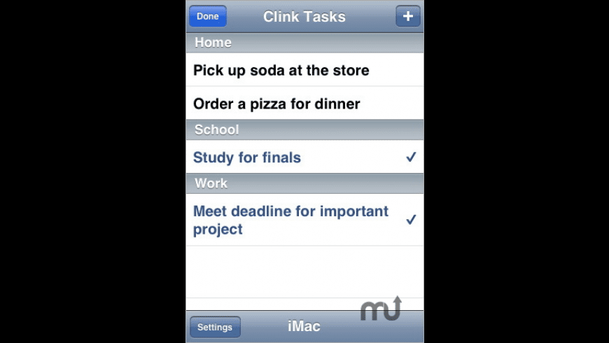 Clink Tasks for Mac - review, screenshots