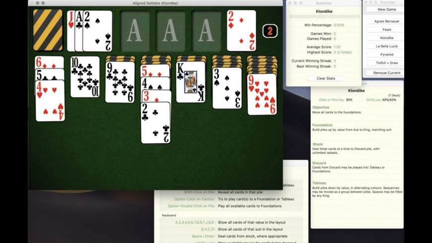 Allgood Solitaire for Mac - review, screenshots