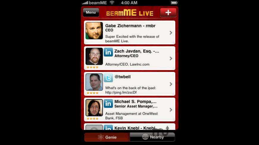 beamME for Mac - review, screenshots
