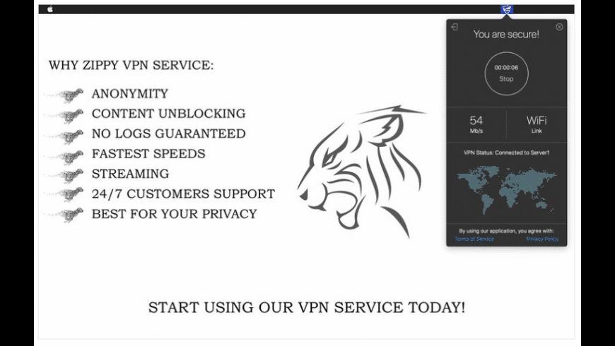 Zippy VPN for Mac - review, screenshots