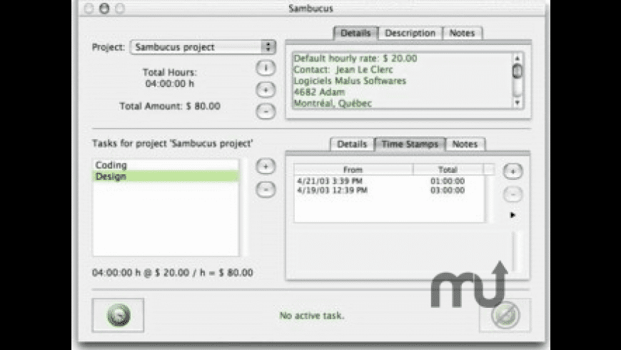 Sambucus X for Mac - review, screenshots