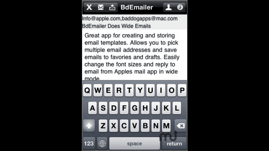 BdEmailer for Mac - review, screenshots