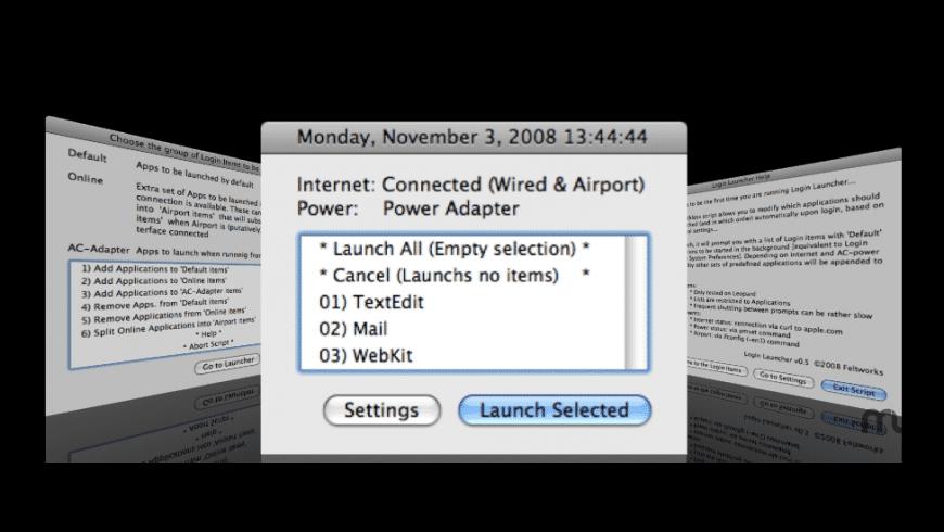 Login Launcher for Mac - review, screenshots