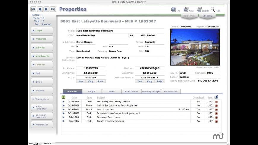 Real Estate Success Tracker for Mac - review, screenshots