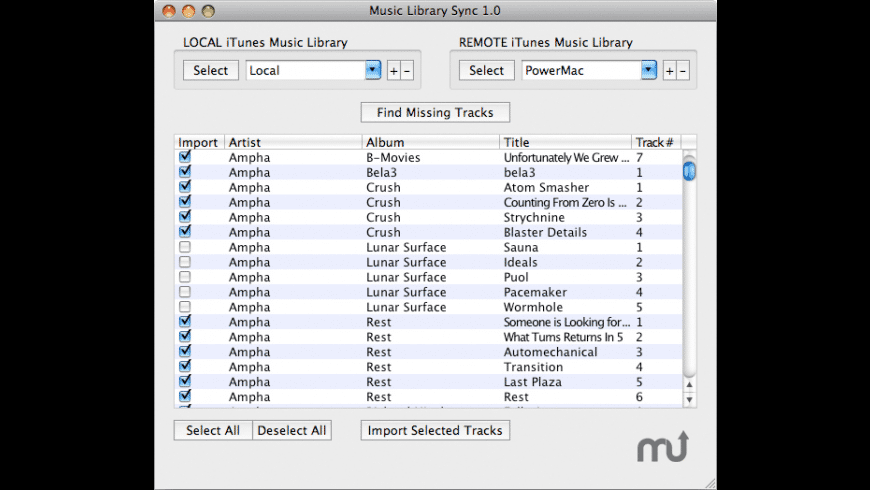 Music Library Sync for Mac - review, screenshots