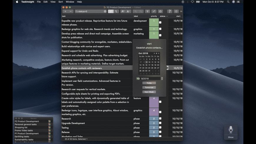 TaskInsight for Mac - review, screenshots