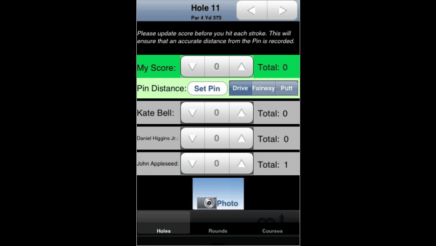 iGolfScore for Mac - review, screenshots