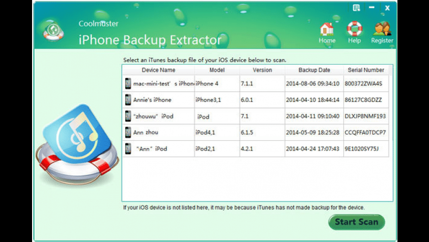 Coolmuster iPhone Backup Extractor for Mac - review, screenshots