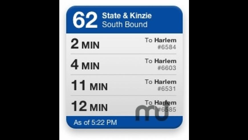 CTA Bus Tracker Widget for Mac - review, screenshots